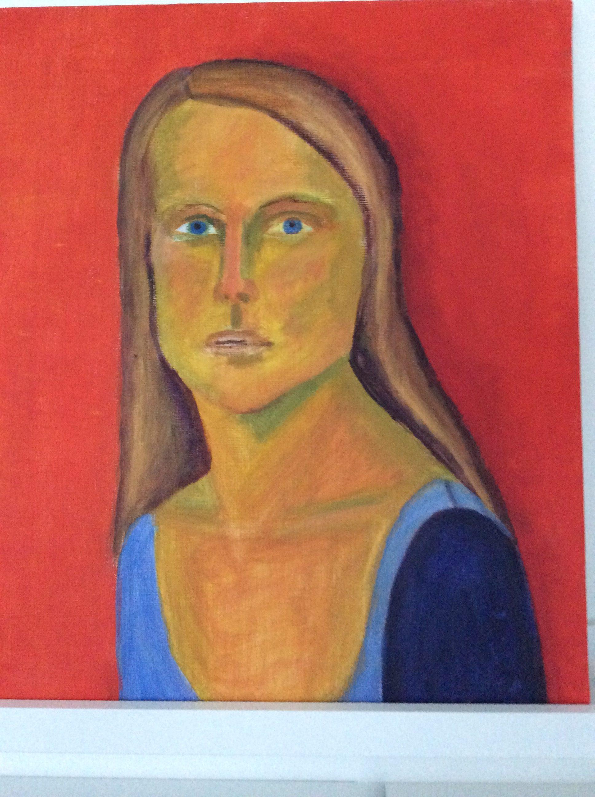 Självporträtt, Akrylmålning