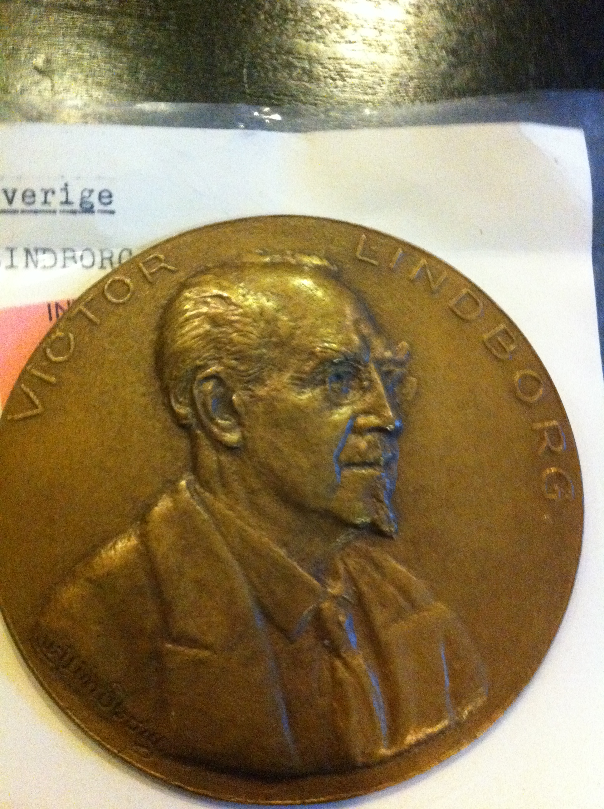 Victor Lindborg relief från myntmuseet i Stockholm