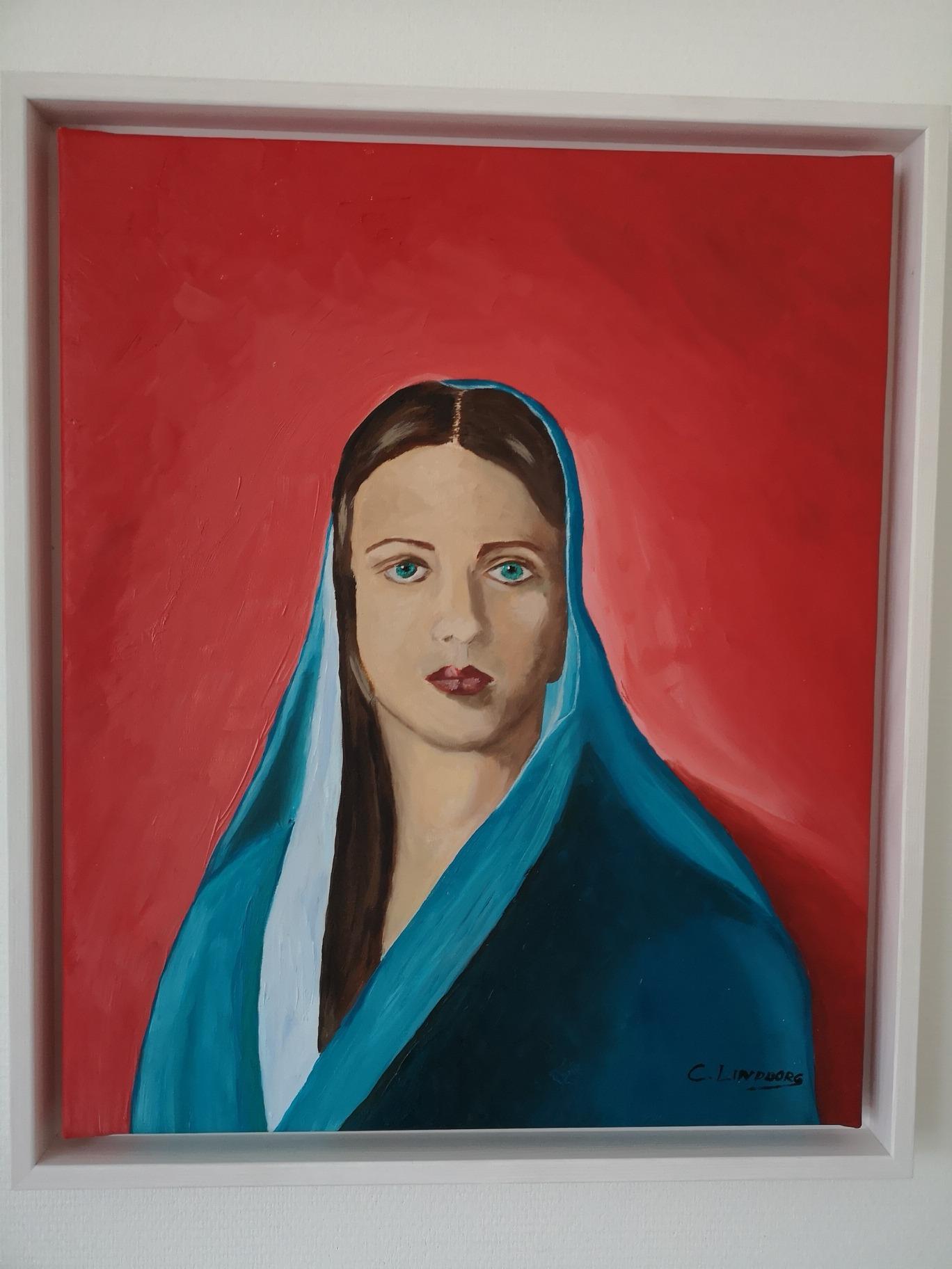 Kvinna Florens Oljemålning