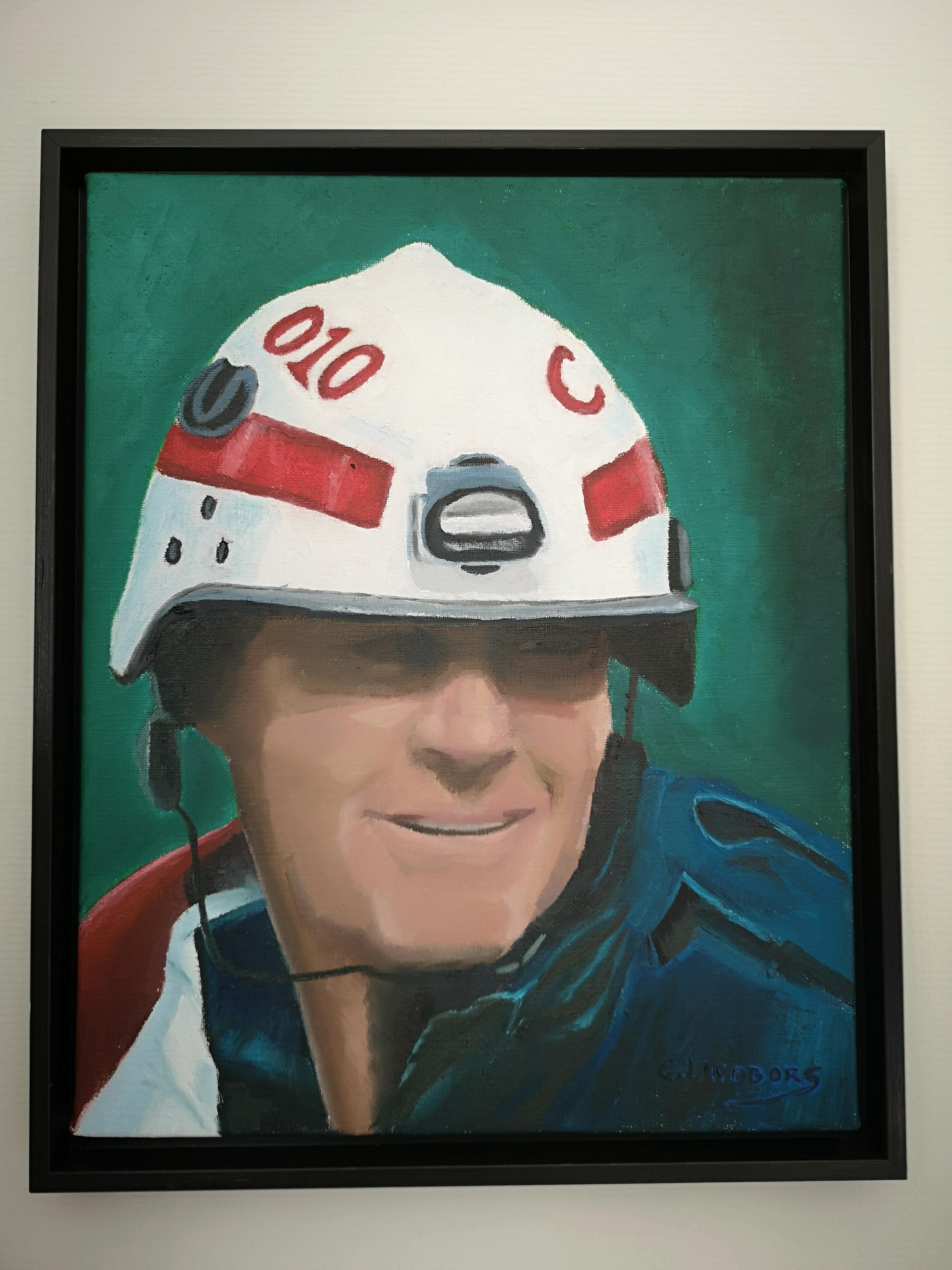 Brandman Peter oljemålning