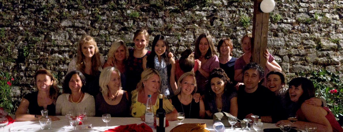 Dinner with the painting course in Monte Castello di Vibio