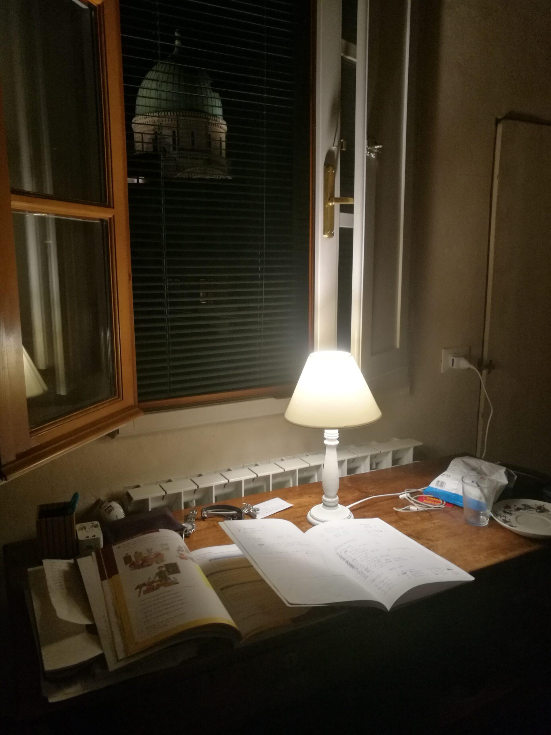 Läxa sent på kvällen